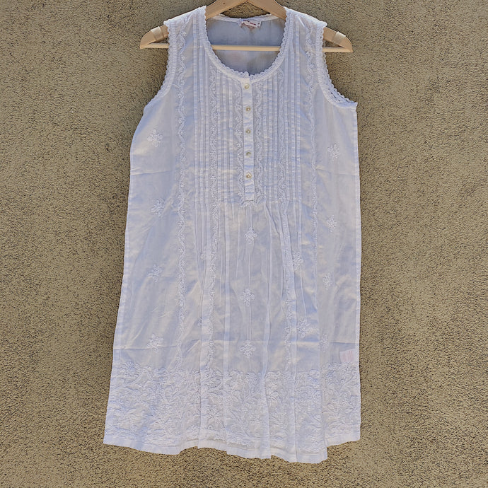 Pleated Front Chemise