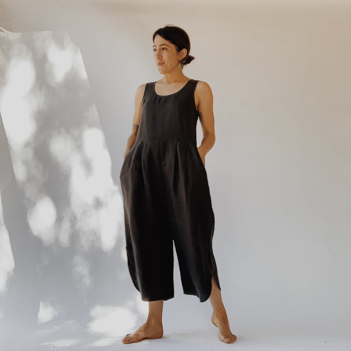 Filosofia | Sam Linen Jumpsuit in Ink
