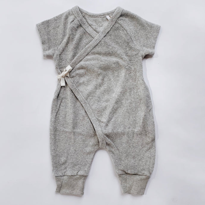 Oliver & Rain | Grey Terry Romper