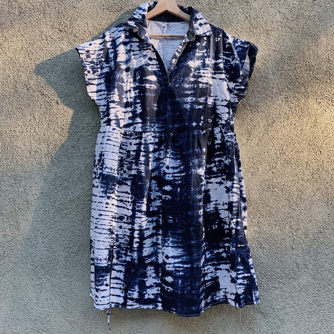 Marlow Dress in Indigo Tie Dye