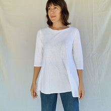 Load image into Gallery viewer, Cut Loose | Long Pullover Top in White