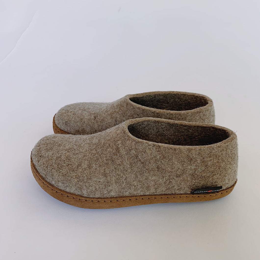 Haflinger | Emils Boiled Wool Slipper in Earth