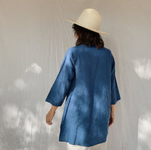 Load image into Gallery viewer, Flax | Linen Tunic in Atlas Blue