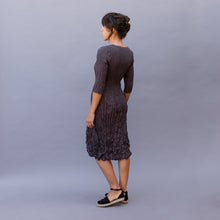 back view tasca dress in smoke by alquema