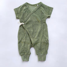 Oliver & Rain | Moss Green Terry Romper