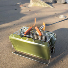 Load image into Gallery viewer, Portable BBQ in Olive