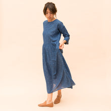 side view navy dress by bunai