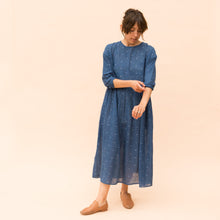 front view navy dress by bunai