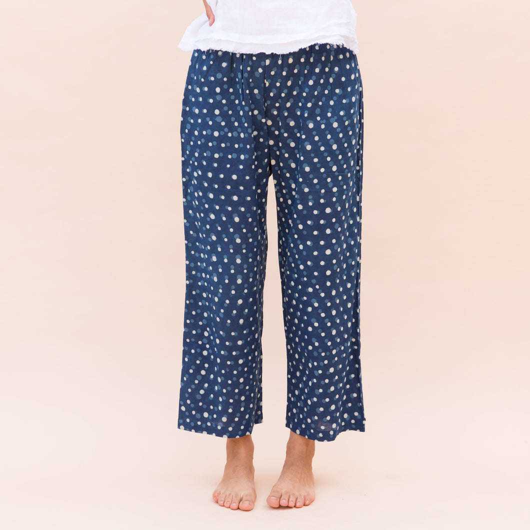 Bunai | Polka Dot Pant in Navy