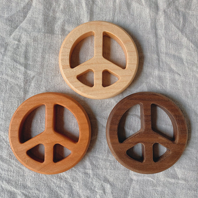 Wooden Peace Teether