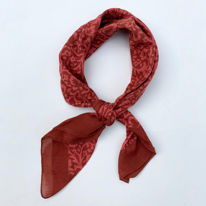 Bandana | Lace Flower in Deep Coral