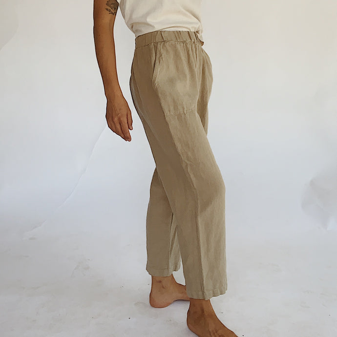 Cut Loose | Tapered Linen Pant in Jute