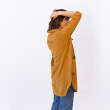 side view mustard tunic from sausalito