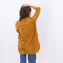 back view mustard tunic from sausalito