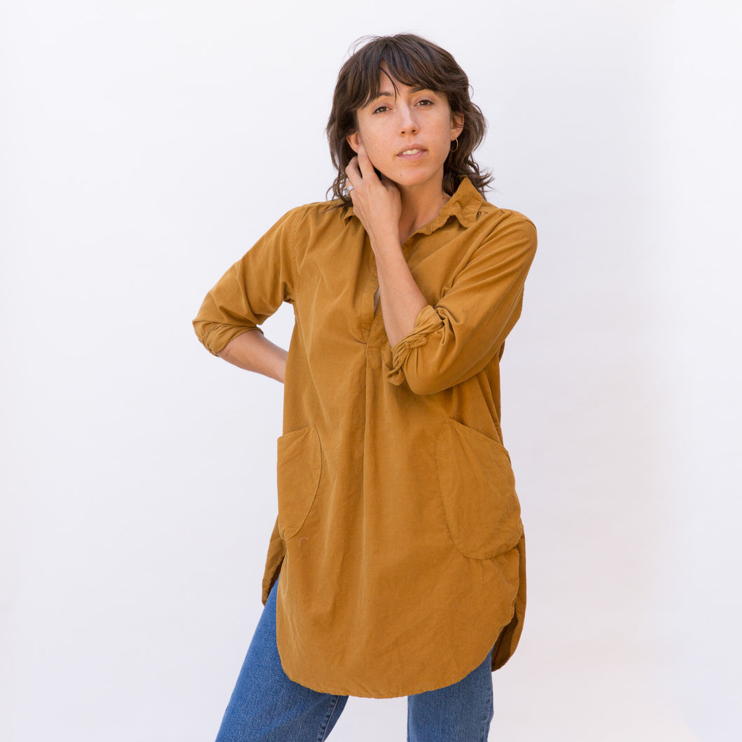 front view mustard tunic from sausalito