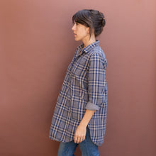 side view plaid tunic by cp shades