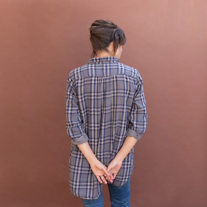 back view plaid tunic by cp shades