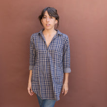 front view plaid tunic by cp shades