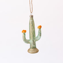 light blue cactus ornament