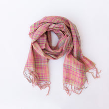 pink check scarf