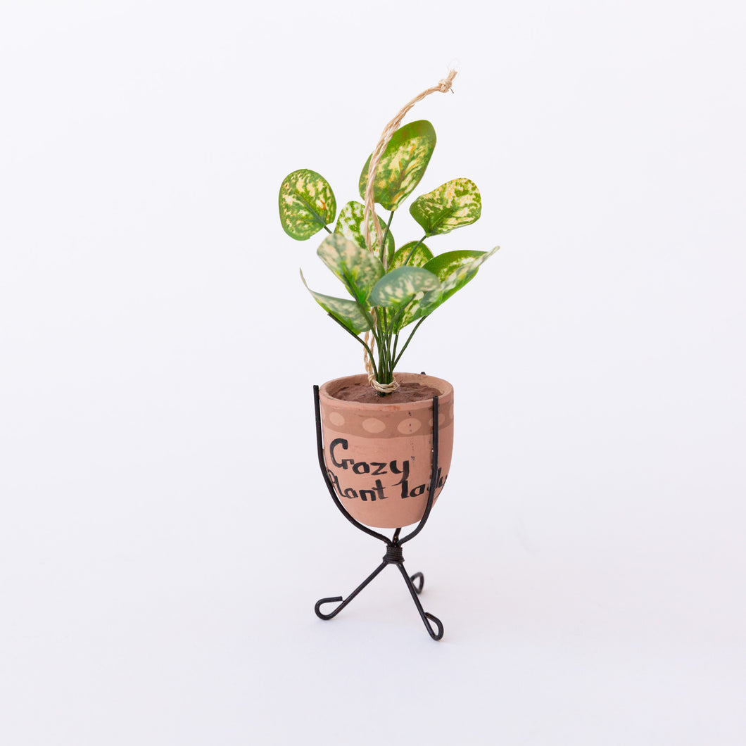 crazy plant lady ornament