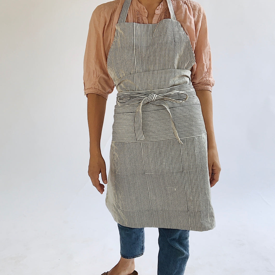 Irregular Stripe Apron