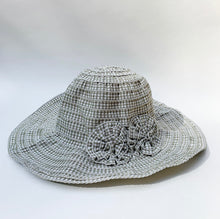 Load image into Gallery viewer, girls sage gingham hat laydown on white background