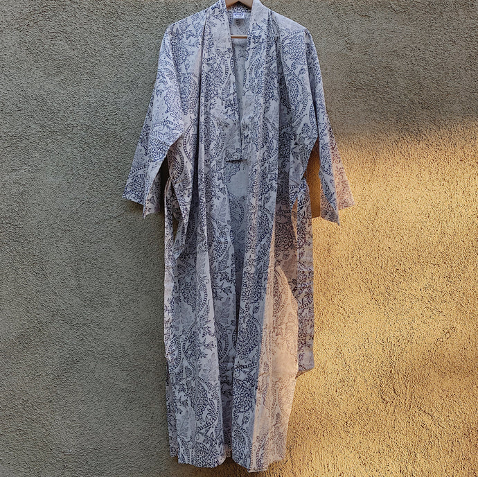 Slate Floral Cotton Robe