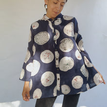 Load image into Gallery viewer, Mona Lisa | Dandelion Print Button Down Top in Navy