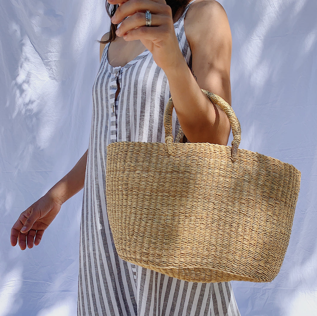 Natural Basket Purse