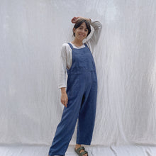 Load image into Gallery viewer, Kleen | Linen Jumpsuit in Navy