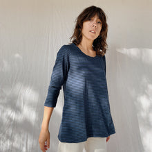 Load image into Gallery viewer, Cut Loose | Pocket Swing Top in Ink Stripe