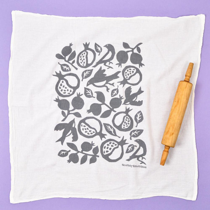 Pomegranate Flour Sack Dishtowel