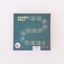 front view domino rally game from belgium