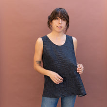 front view silk tank from dressori