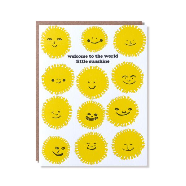 Welcome Sunshine Card