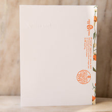 "back view of ""happy wedding"" card"
