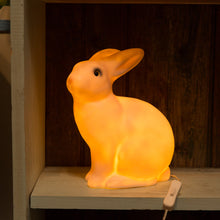 glowing rabbit lamp front view