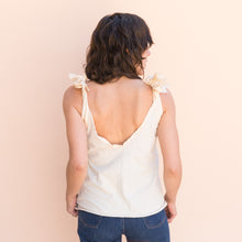 back view bow tank in cream from france
