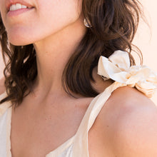 close up view bow tank in cream from france