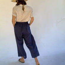 Load image into Gallery viewer, Fresh Laundry | Linen Flat Front Pants in Navy