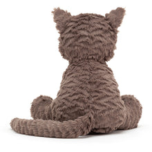 Load image into Gallery viewer, jellycat fuddlewuddle cat sitting back view on white background
