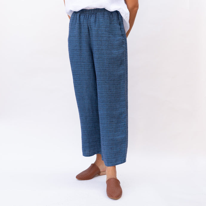Flax | Woven Flood in Blue