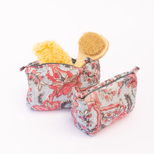 stuffed small and medium floral toiletry bags