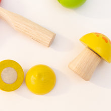 closeup view fruit & vegetable set