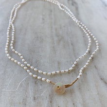 Load image into Gallery viewer, Lena Skadegard | Seed Pearl Button Necklace