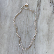 Load image into Gallery viewer, Lena Skadegard | Mini Grey Pearl Button Necklace