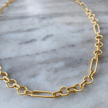 "Load image into Gallery viewer, Jane Diaz | 22"" Circle Square Link Chain Necklace"