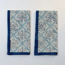 Load image into Gallery viewer, Blockprint Napkin Set/4 | Porto Tile