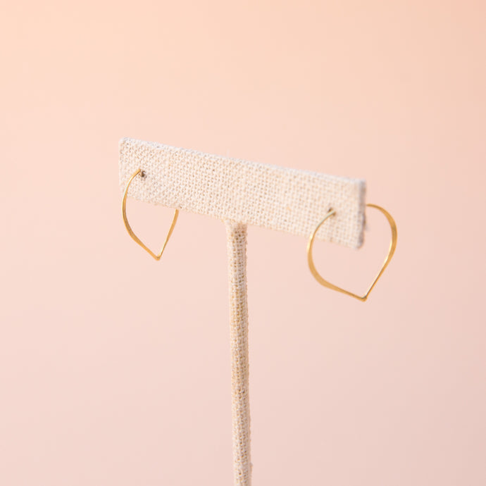 Gold Pointed Hoops